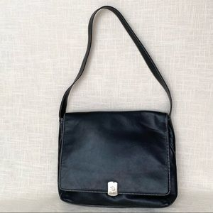 Lauren Ralph Lauren Handbag Purse Black Leather